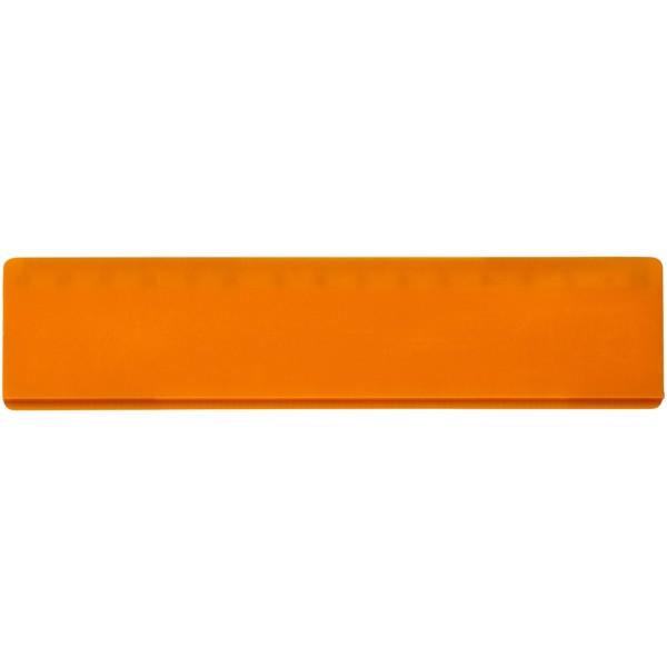 Renzo 15 cm plastic ruler - Orange