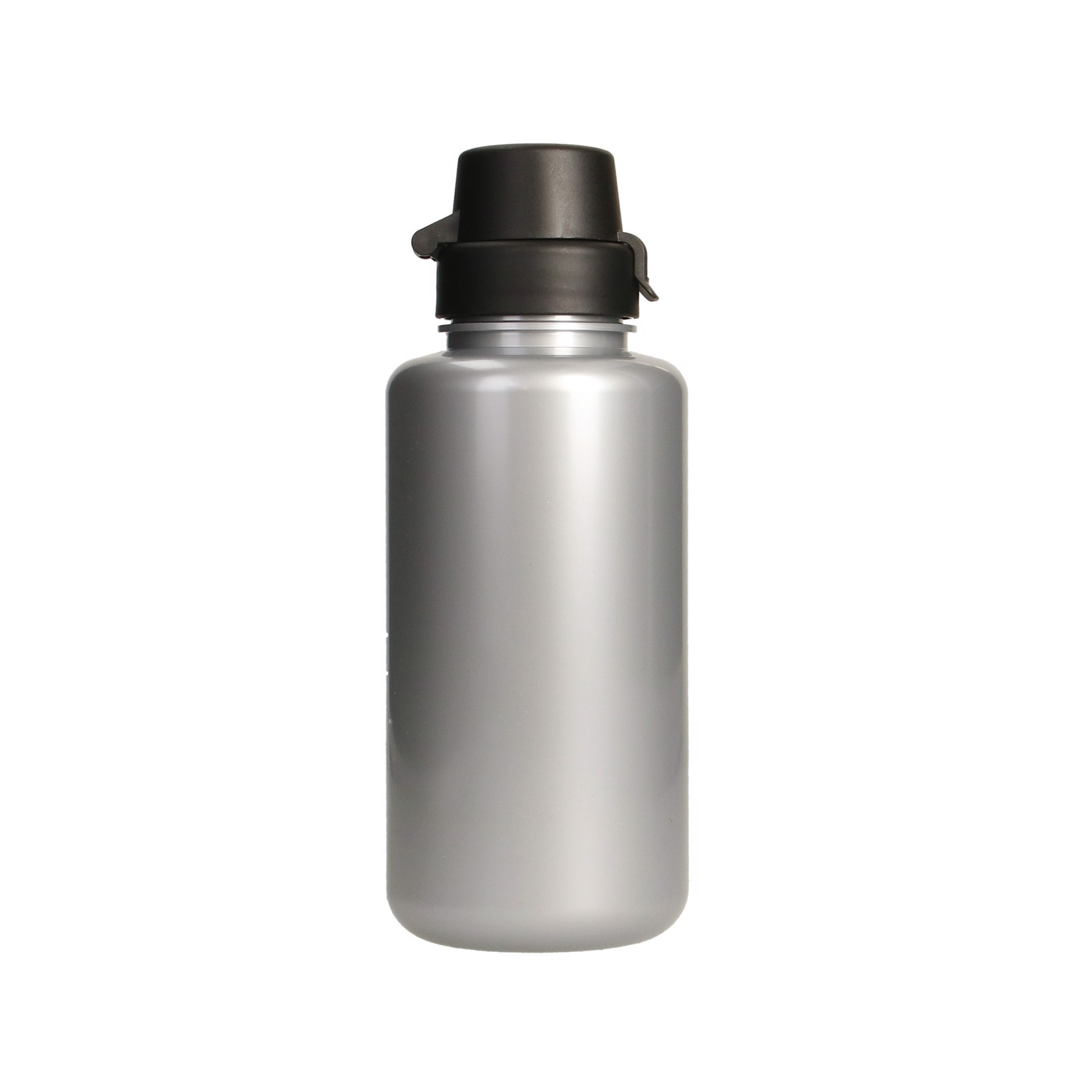 """Drink Bottle """"School"""" Colour, 0.7 L - Silver / Black"""