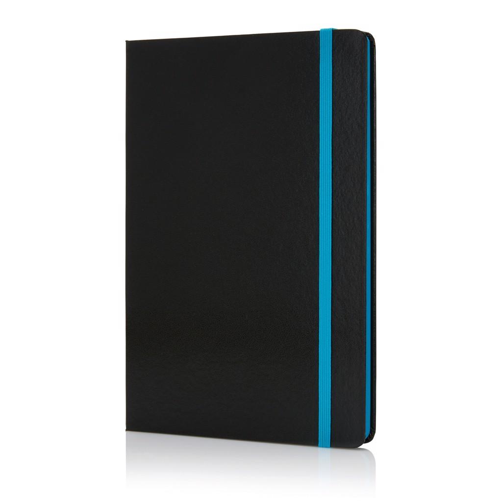 Poznámkový blok A5 sbarevnými okraji - Modrá / Černá