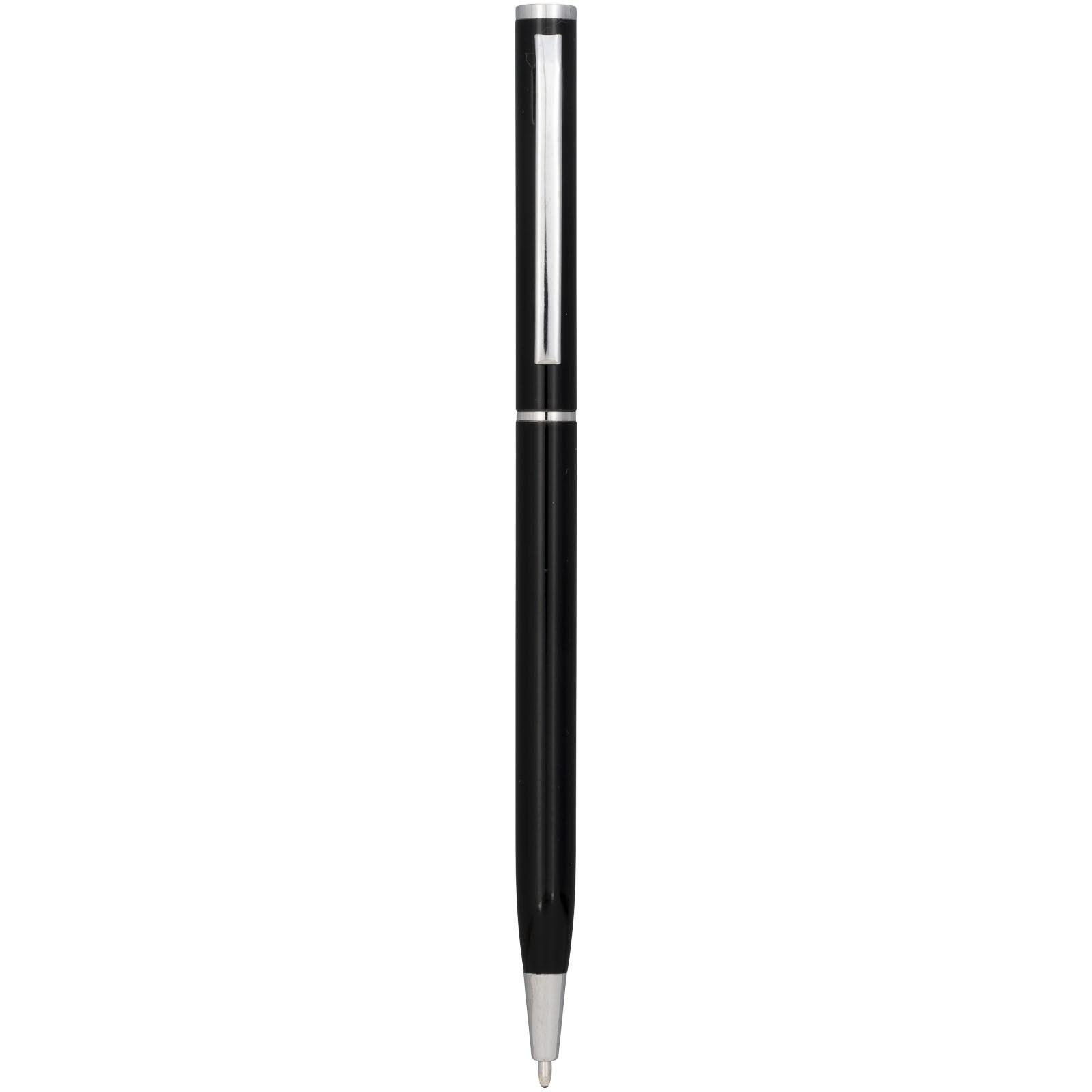 Hhliníkové kuličkové pero Slim - Černá
