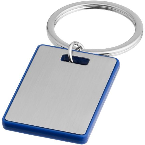 Obdélníkový přívěsek na klíče Donato - Světle modrá / Stříbrný