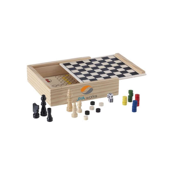 WoodGame 5-in-1 game set