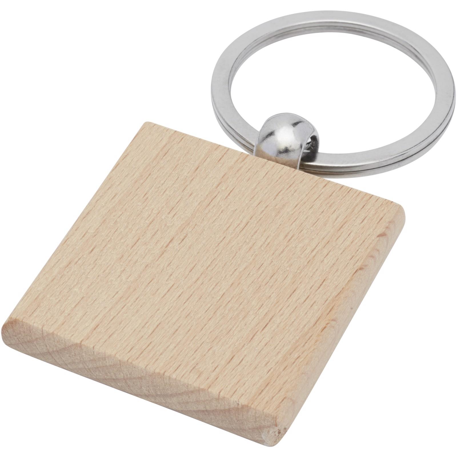 Gioia čtvercová klíčenka z bukového dřeva