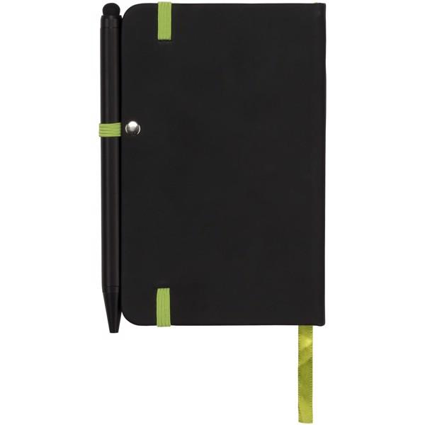 Zápisník Small noir edge - Černá / Limetka