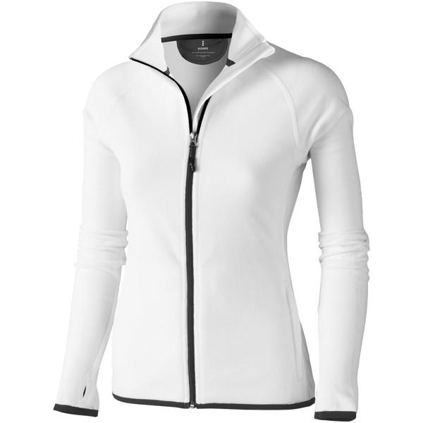 Dámská bunda Brossard z materiálu mikro fleece - Bílá / M