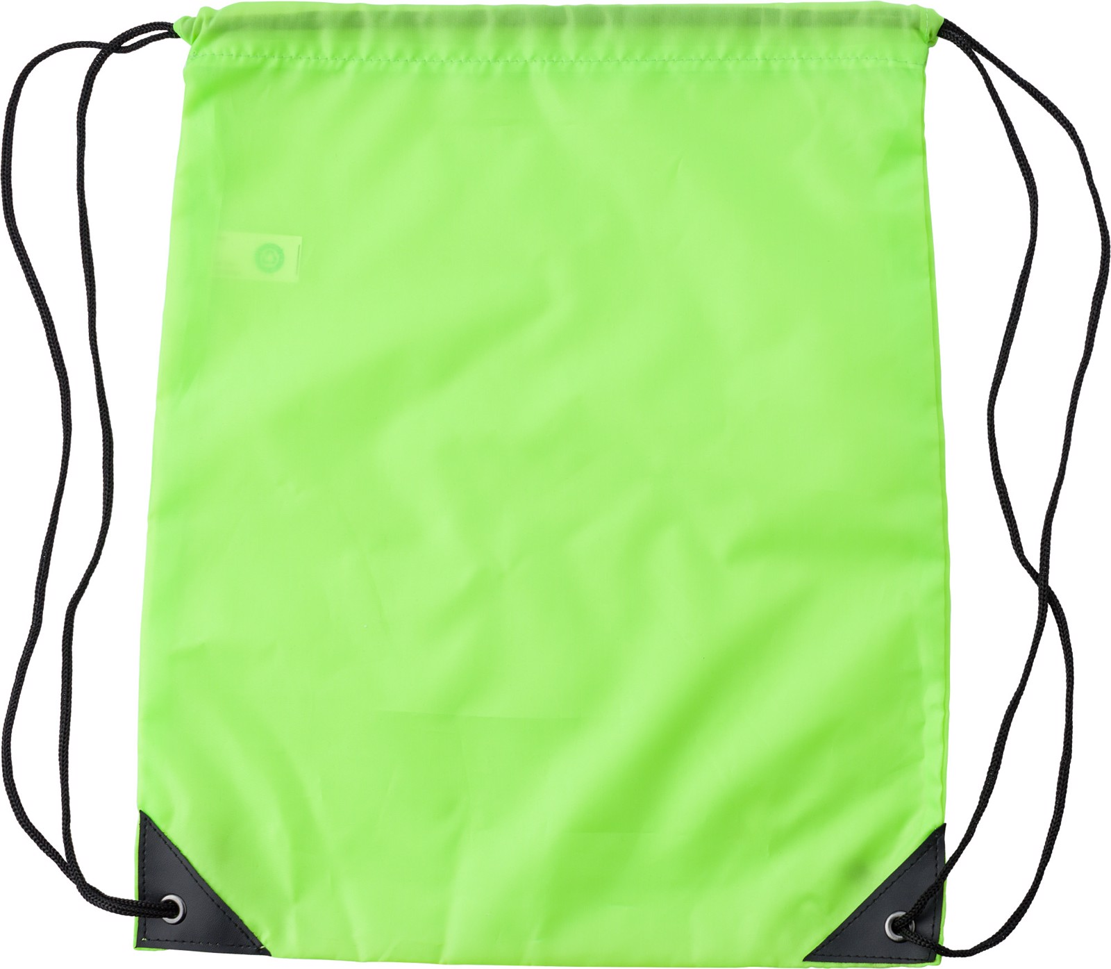 RPET polyester (190T) drawstring backpack - Lime