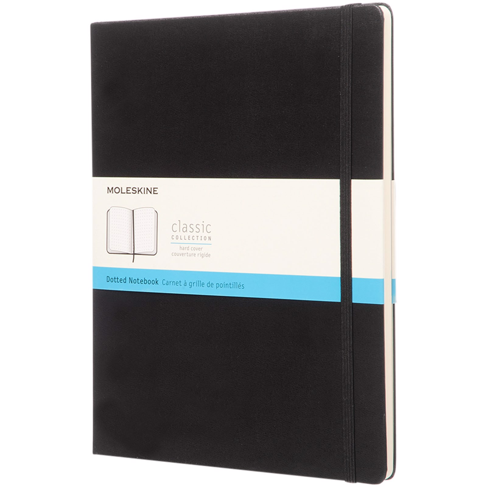 Classic XL hard cover notebook - dotted - Solid black