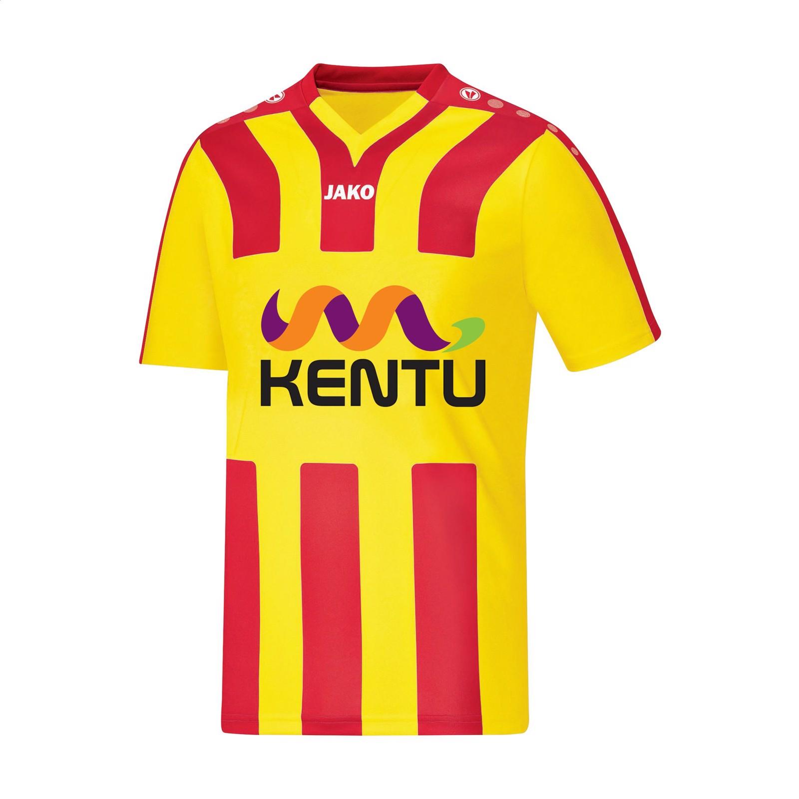 Jako® Shirt Santos KM mens sportshirt - Yellow / Red / M