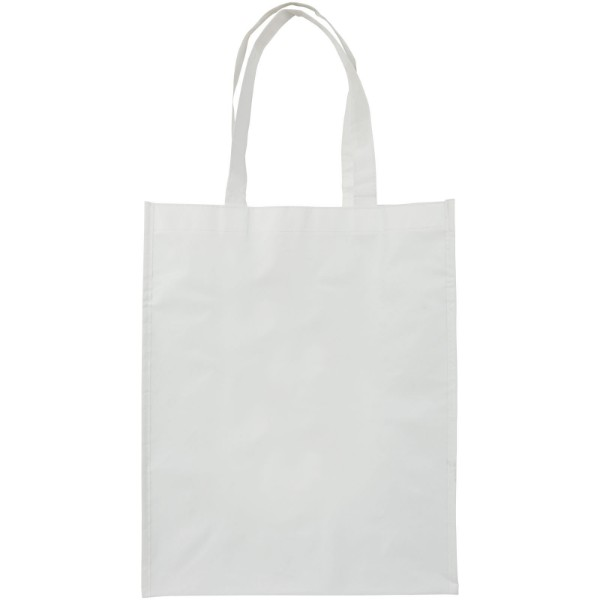 Conessa laminated shopping tote bag - White