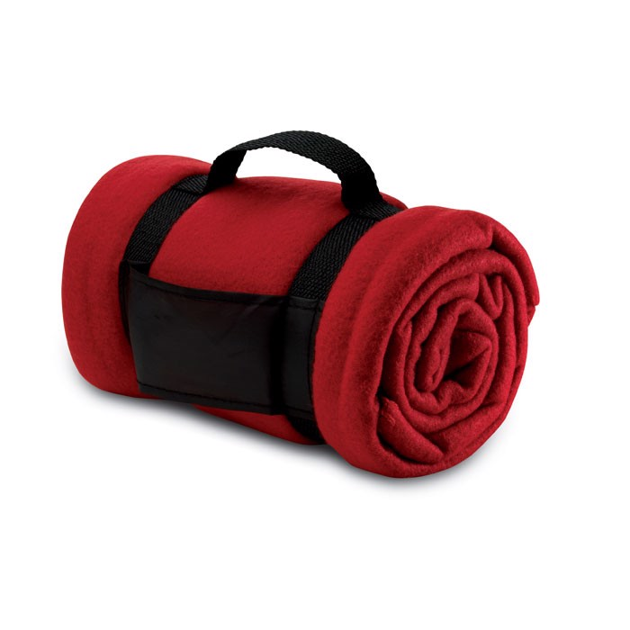 Fleece blanket Stavenger - Red