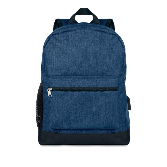 600D 2 tone polyester backpack Bapal Tone - Blue