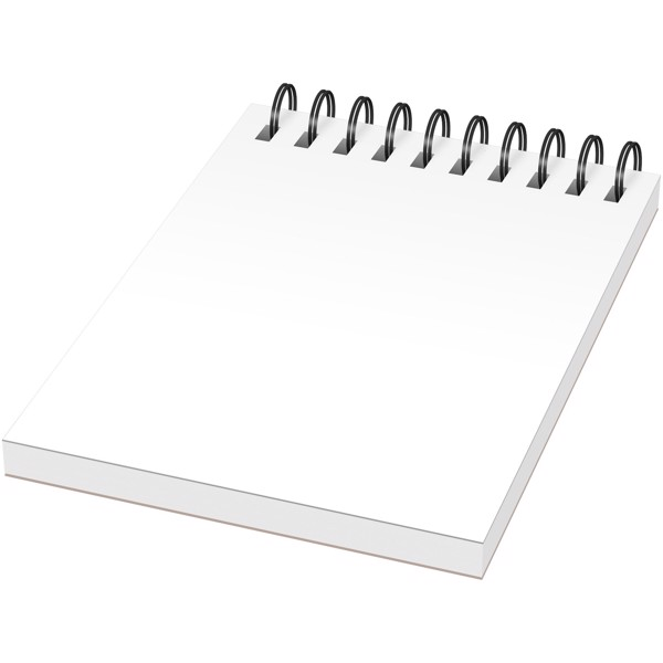Desk-Mate® A7 notebook synthetic cover - White / Solid black