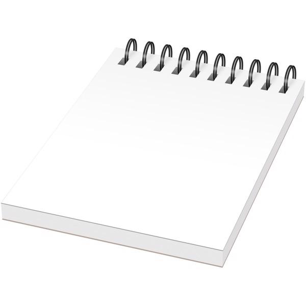 Poznámkový blok se syntetickými deskami Desk-Mate® A7 - Bílá / Černá