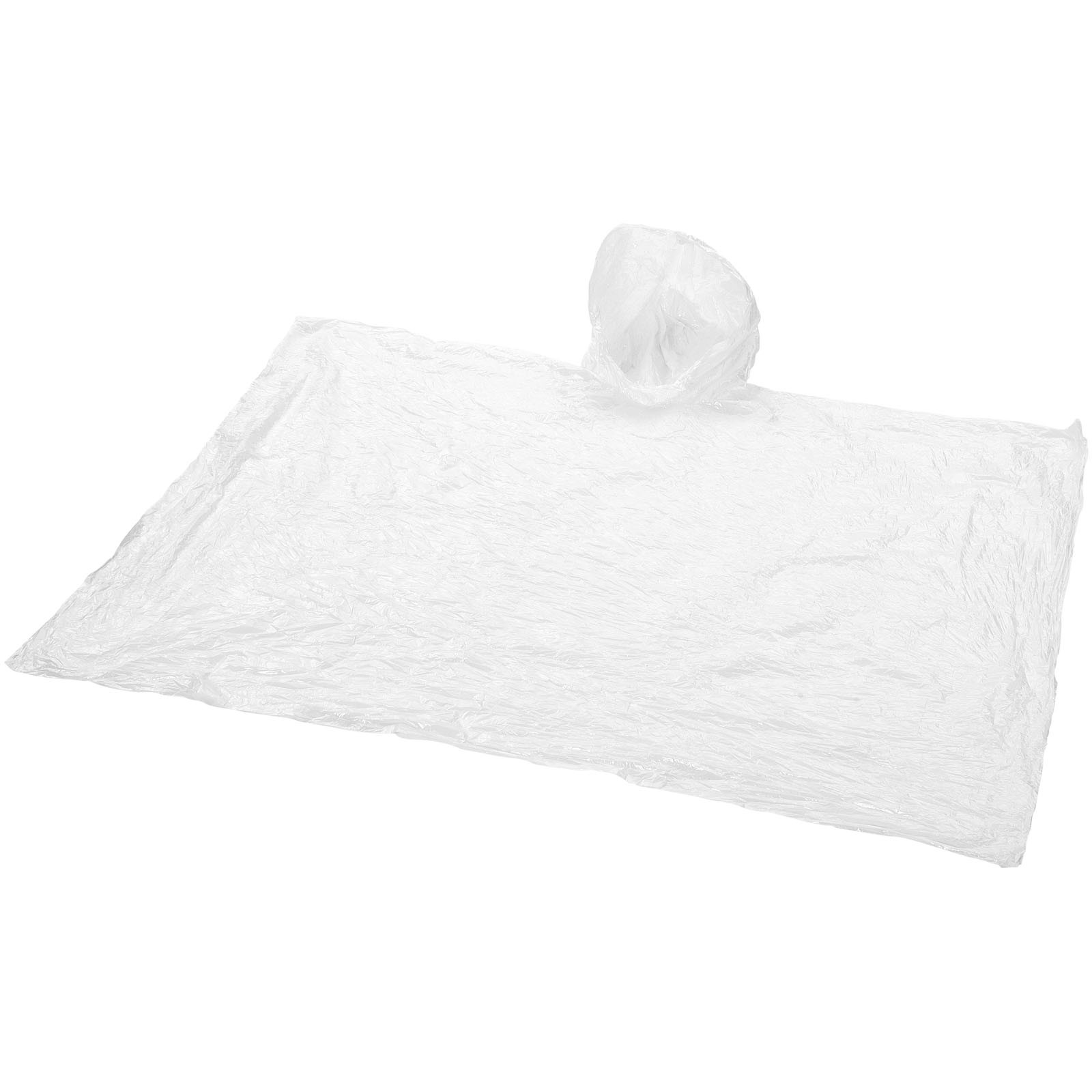 Huko disposable rain poncho with storage pouch - Transparent White