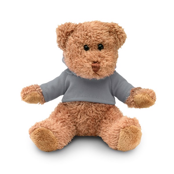 Teddy bear plus with hoodie Johnny - Grey