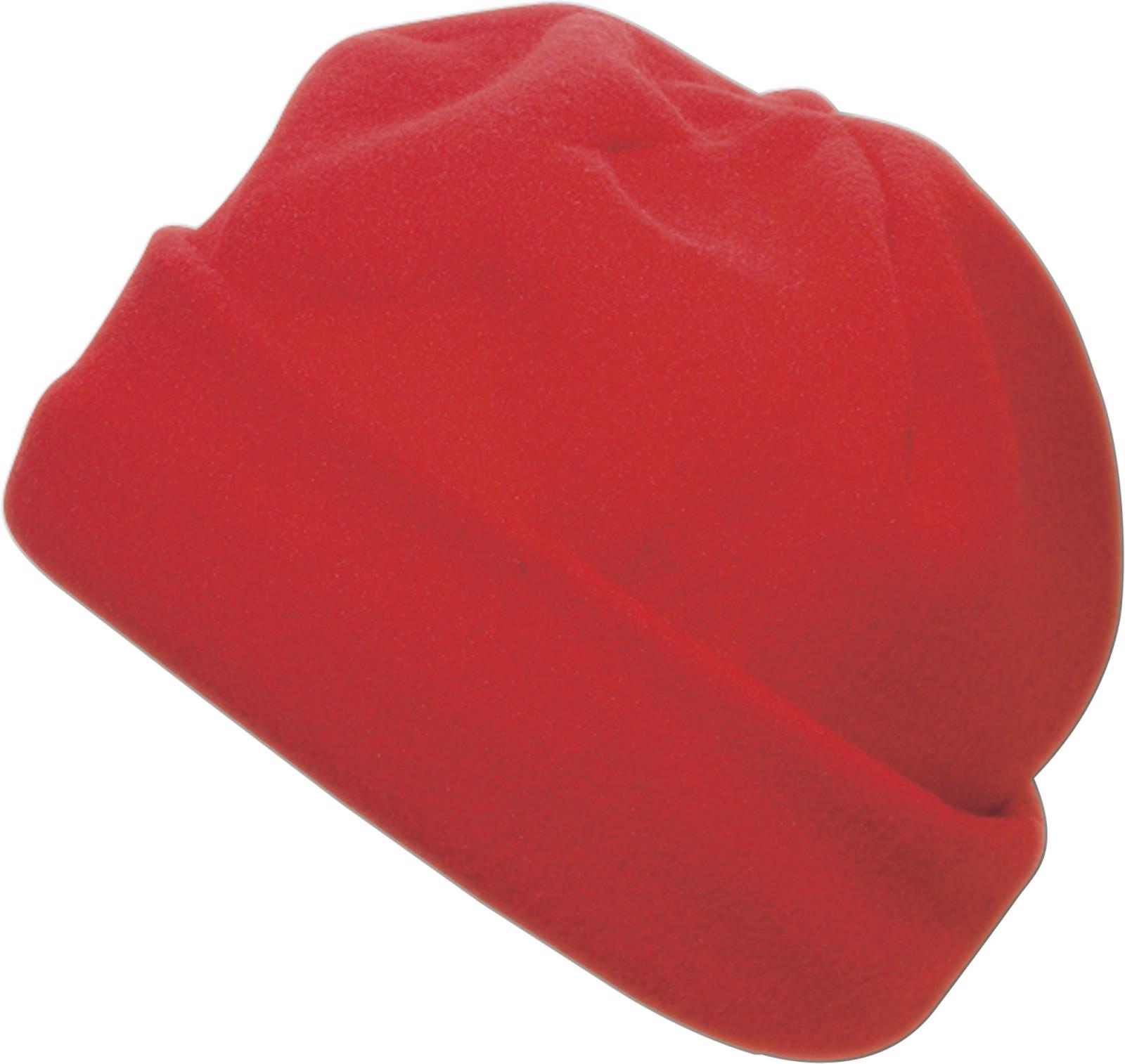 Polyester fleece (200 gr/m²) beanie - Red