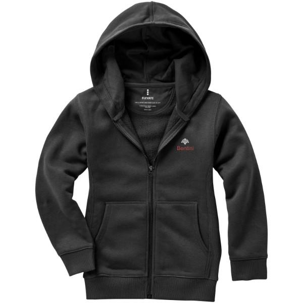 Arora hooded full zip kids sweater - Anthracite / 116