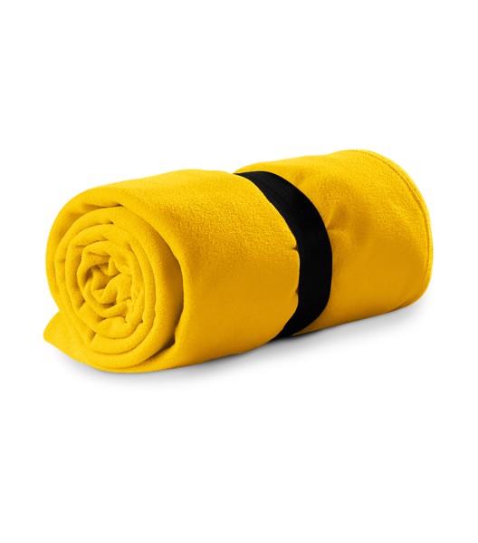 Fleecová deka unisex Piccolio Blanky - Žlutá / uni