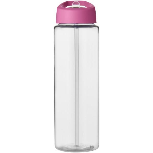 H2O Vibe 850 ml sportovní lahev s víčkem s hubičkou - Průhledná / Růžová