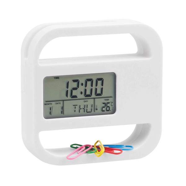 Desk Clock Soret - White