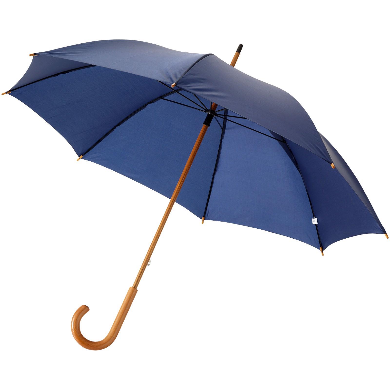"""23"""" klasický deštník Jova s dřevěnou tyčí a rukojetí - Navy"""