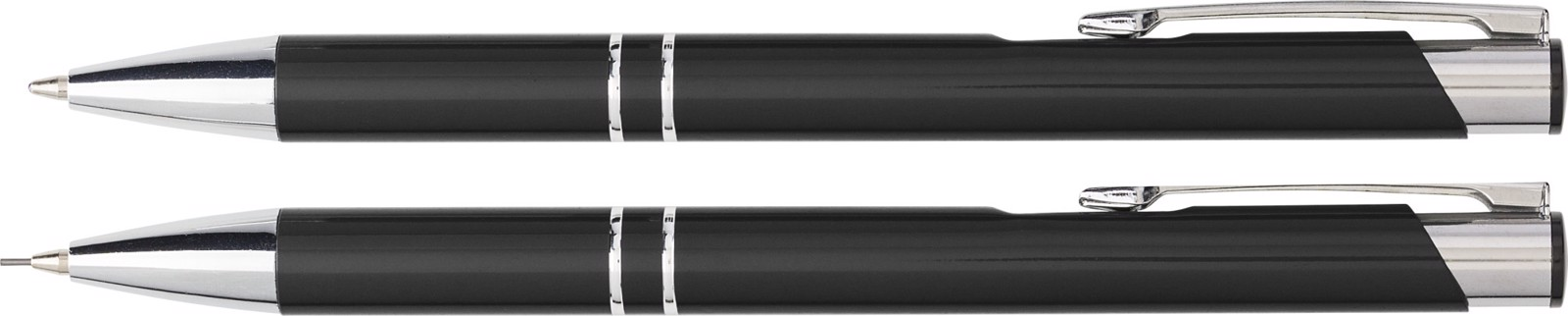 Aluminium writing set - Black