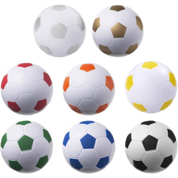 """Balón de fútbol antiestrés """"Football"""" - Plateado / Blanco"""
