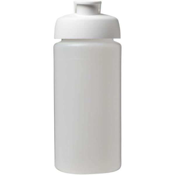 Sportovní láhev s vyklápěcím víčkem Baseline® Plus grip 500 ml - Průhledná / Bílá