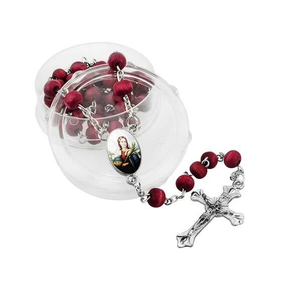 Rosary - Dark Red