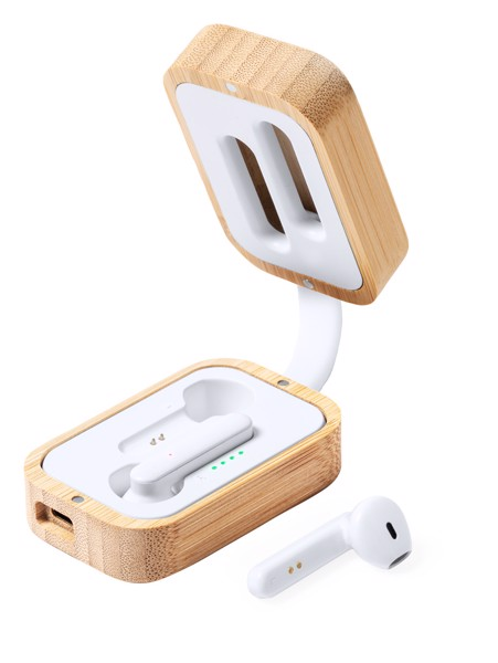Bluetooth Fülhallgató Tresan - Natúr / Fehér