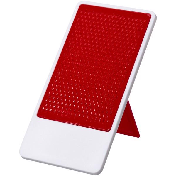 Flip Smartphonehalterung mit klappbarem Ständer - Rot / Weiss