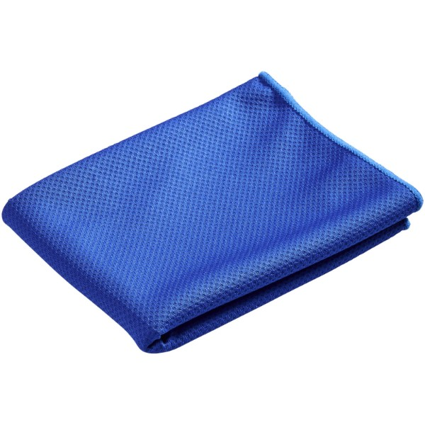 Peter cooling towel in mesh pouch - Royal blue