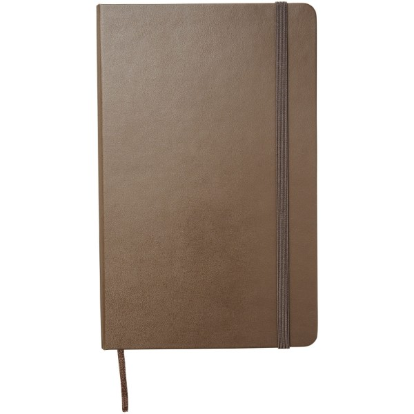 Classic L hard cover notebook - ruled - Earth brown