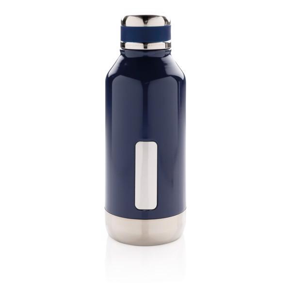 Szivárgásmentes vákuum palack logónak kialakított felülettel - Kék