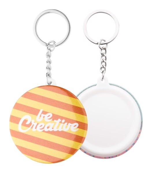 Přívěšek Na Klíče S Plackou KeyBadge Mini - Bílá