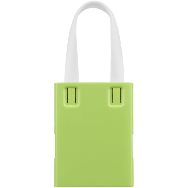 Revere 3-port USB hub with 3-in-1 cable - Lime