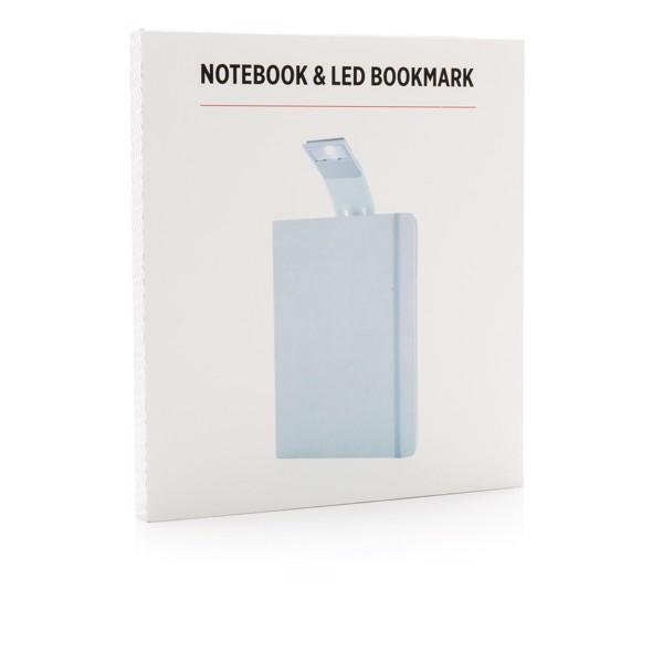 Poznámkový blok A5 s LED záložkou - Bílá
