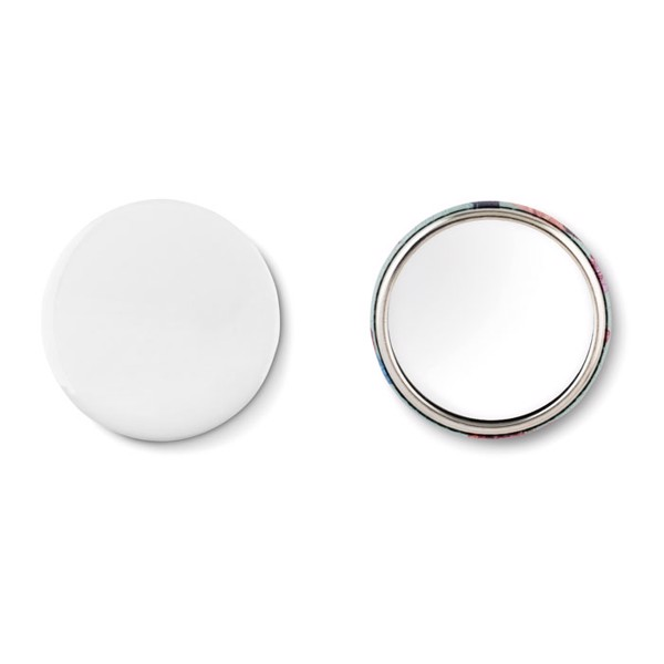 Mirror button metal