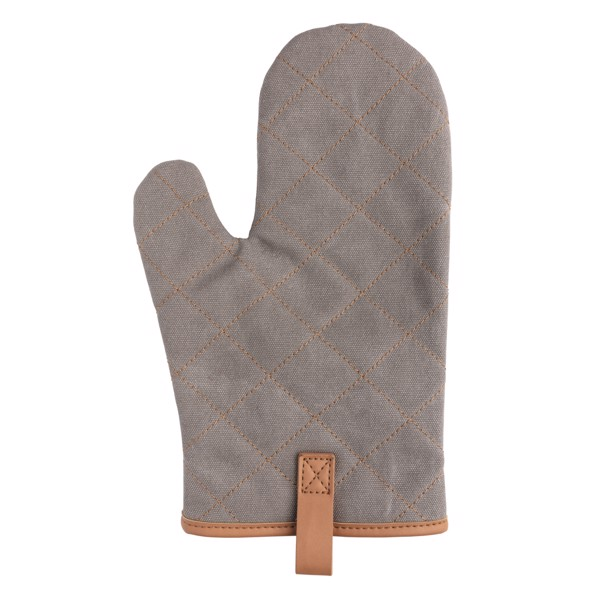 Deluxe canvas oven mitt - Grey
