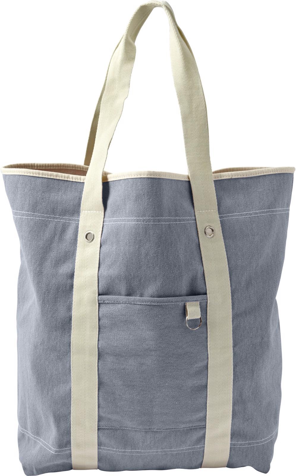 Cotton twill (350 gr/m²) beach bag - Light Blue