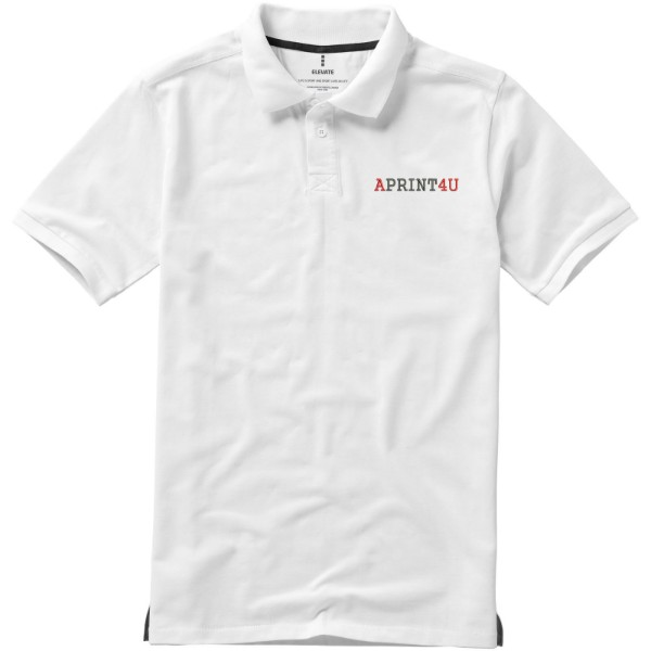 Calgary short sleeve men's polo - White / XXL