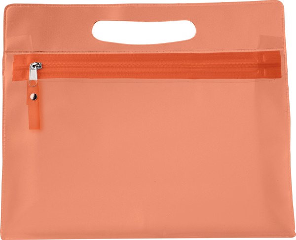 Kulturtasche 'Panorama' aus PVC - Orange