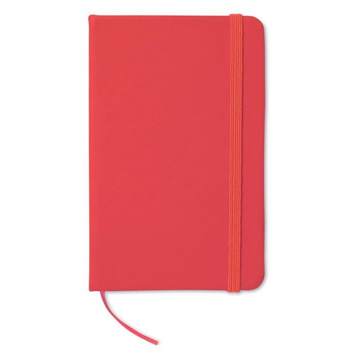 A6 linkovaný zápisník Notelux - red