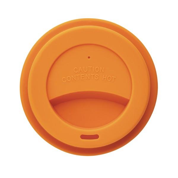 PLA kávésbögre - Narancs / Fehér