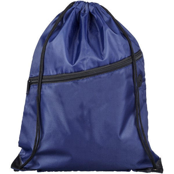 Oriole šňůrkový batoh se zipem - Navy