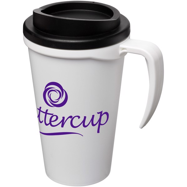Americano® Grande 350 ml insulated mug - White / Solid Black