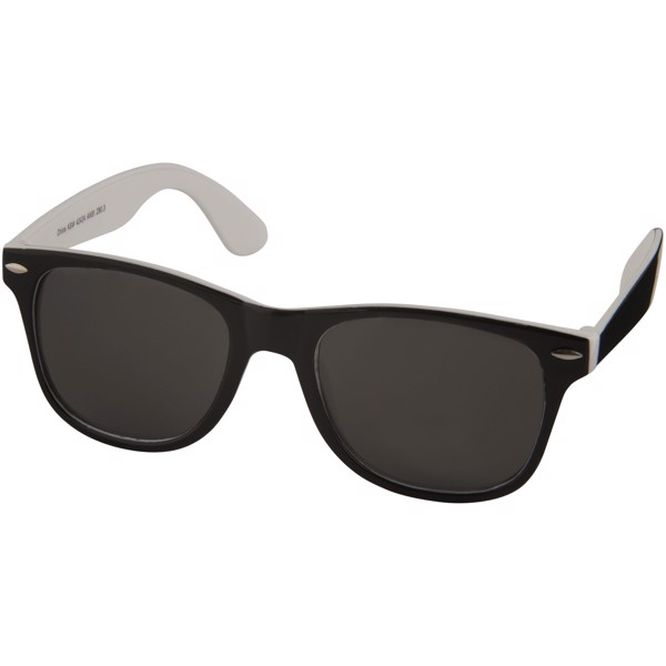 Sun Ray sunglasses with two coloured tones - White / Solid Black