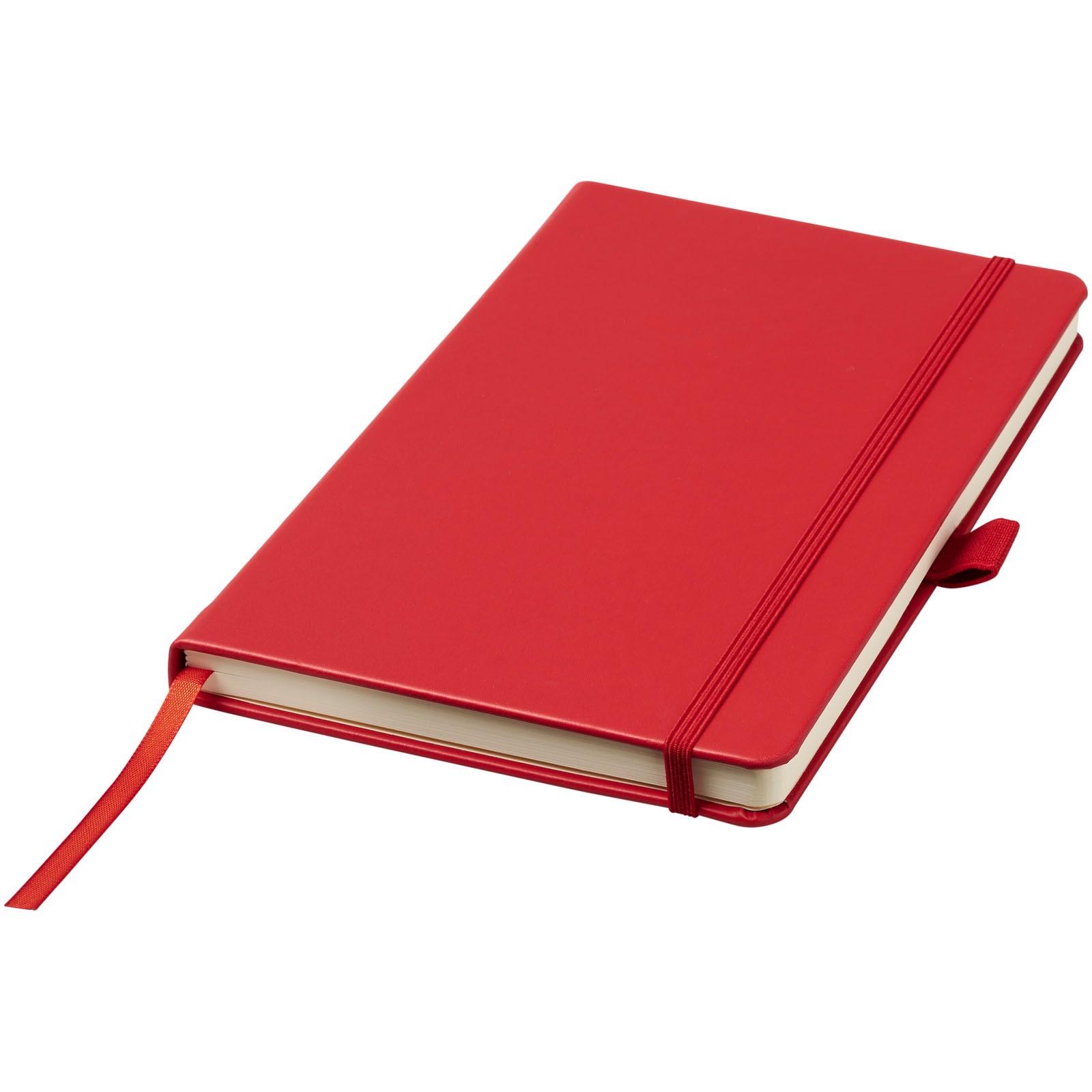 Vázaný poznámkový blok A5 Nova - Červená s efektem námrazy