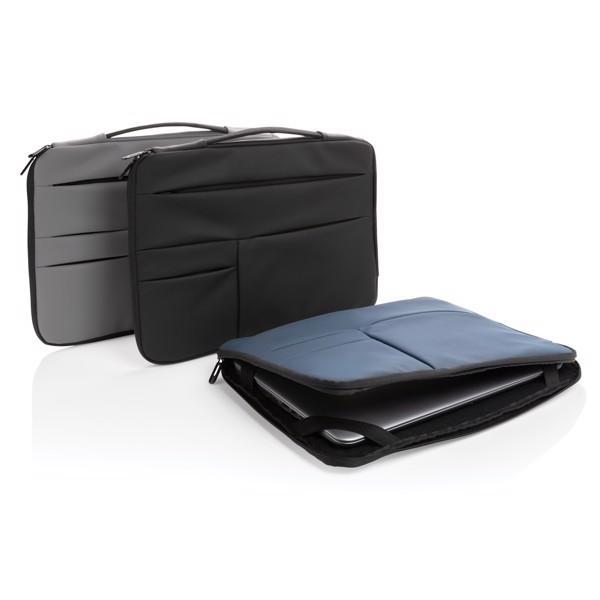 """Obal na 15,6"""" notebook z hladkého PU - Námořní Modř"""