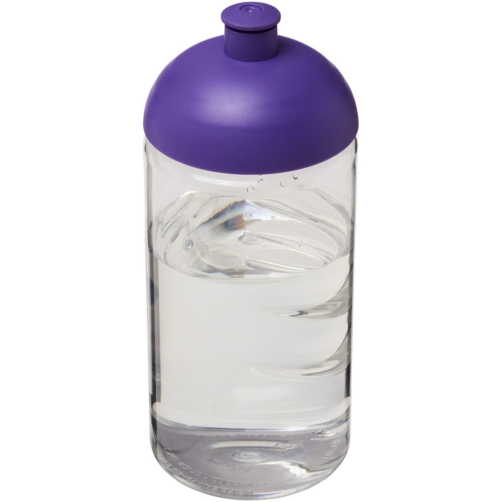 Láhev s kupolovitým víčkem H2O Bop® 500 ml - Průhledná / Purpurová